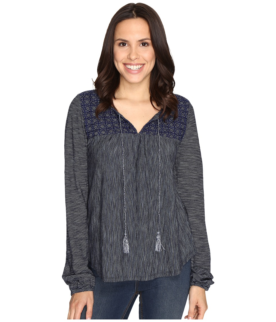 Sanctuary - Poetta Knit Top (Marine/Milk Stripe) Women's Long Sleeve Pullover