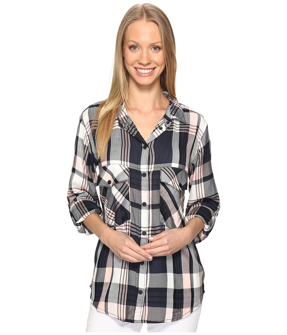 Sanctuary - Boyfriend Shirt (Cassidy Plaid) Women's Long Sleeve Button Up
