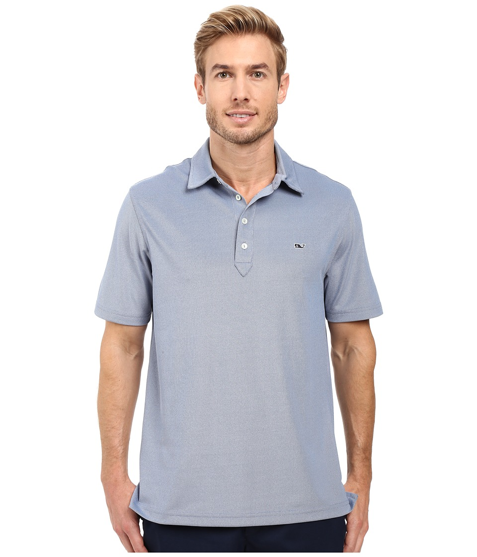 Vineyard Vines - Marshall Solid Pique Performance Polo (Royal Ocean) Men's Clothing