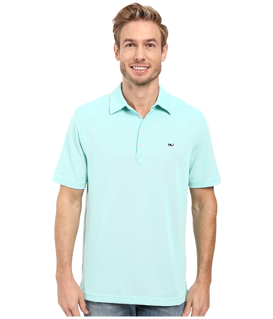 Vineyard Vines - Marshall Solid Pique Performance Polo (Capri Blue) Men's Clothing