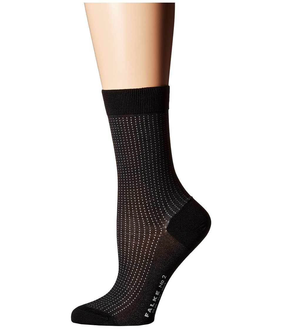 Falke - #2 Sock (Luxury) (Black (Pattern Silk)) Women's Crew Cut Socks Shoes
