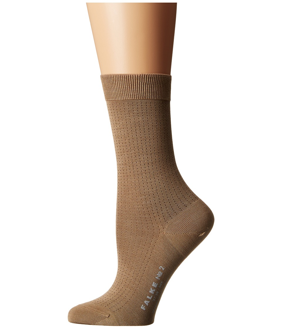 Falke - #2 Sock (Luxury) (Brown Melange) Women's Crew Cut Socks Shoes