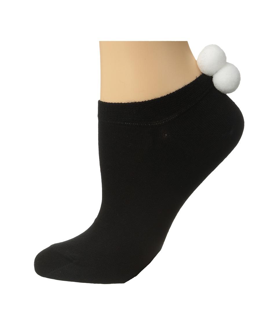 Falke - Pom Pom Sneaker (Black/Grey) Women's Crew Cut Socks Shoes