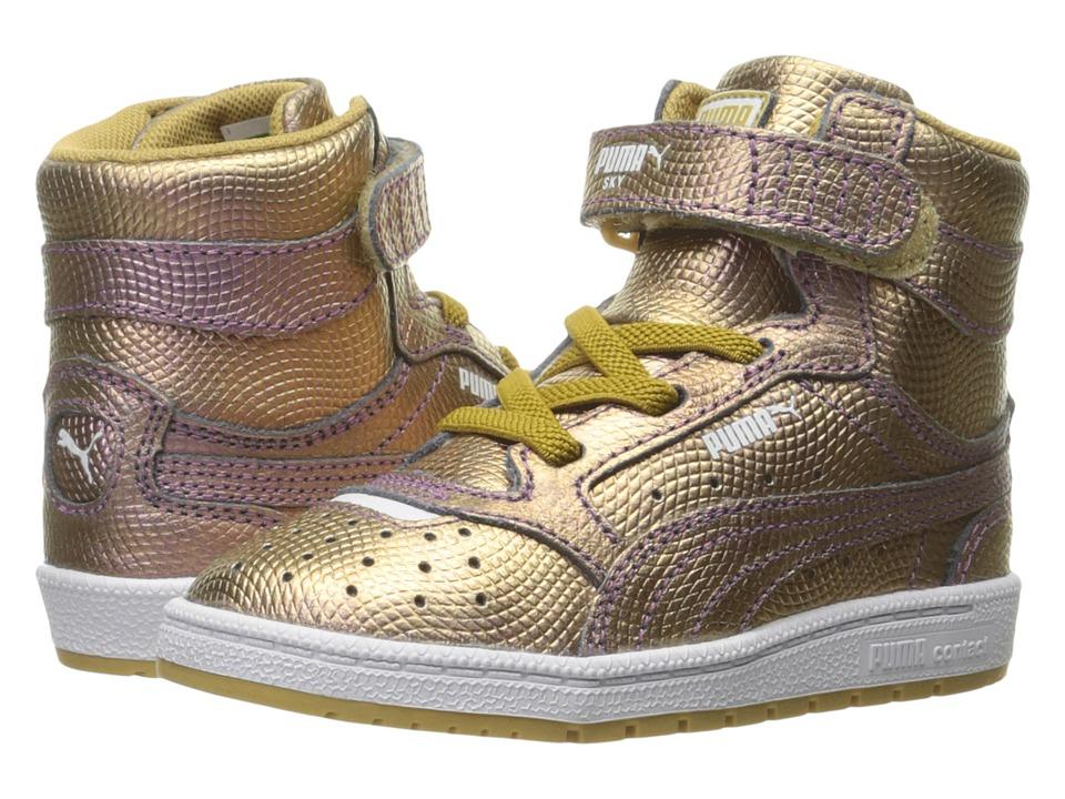 Puma Kids Sky II Hi Holo INF (Toddler) (Gold) Kids Shoes