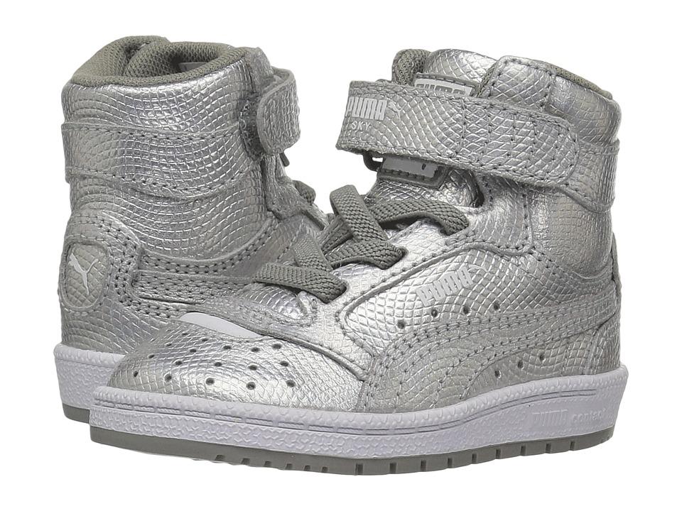 Puma Kids Sky II Hi Holo INF (Toddler) (Silver) Kids Shoes