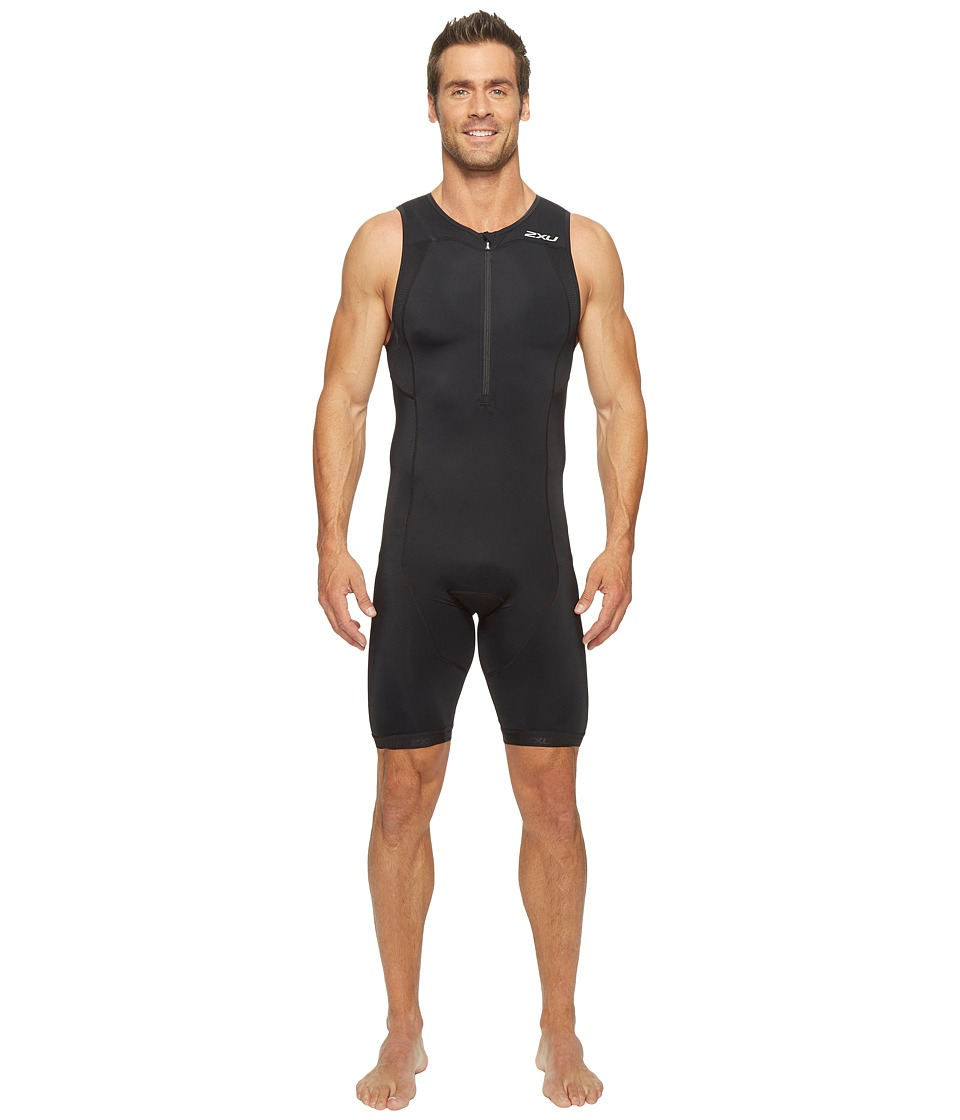 2XU - Active Trisuit (Black/Black) Men's Race Suits One Piece