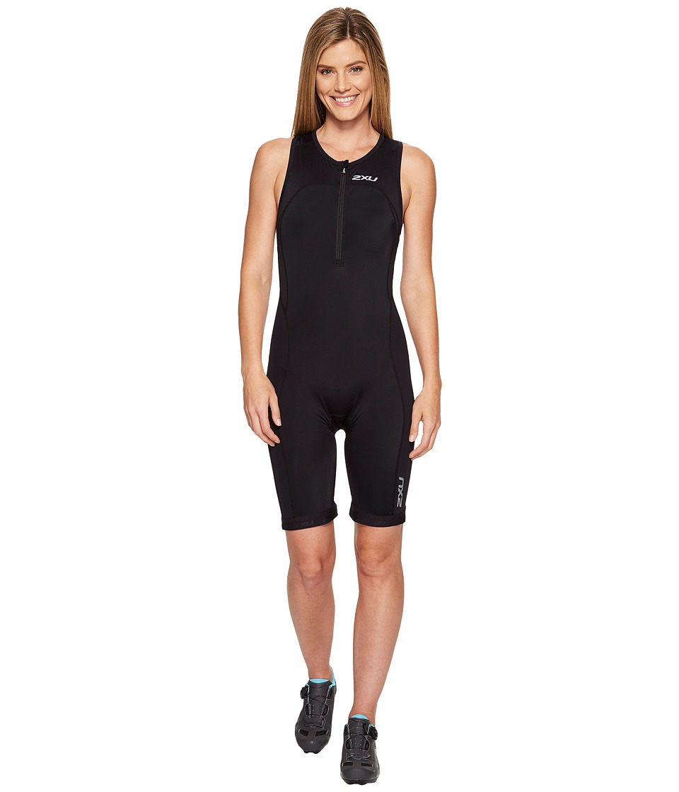 2XU - Active Trisuit (Black/Black) Women's Race Suits One Piece
