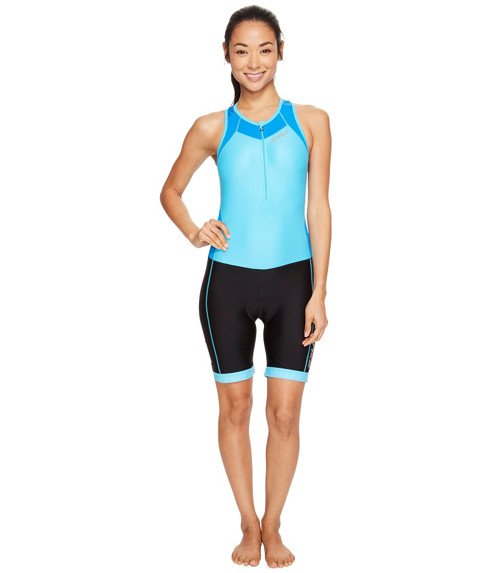 2XU - X-Vent Front Zip Trisuit (Blue Atoll/Black) Women's Race Suits One Piece