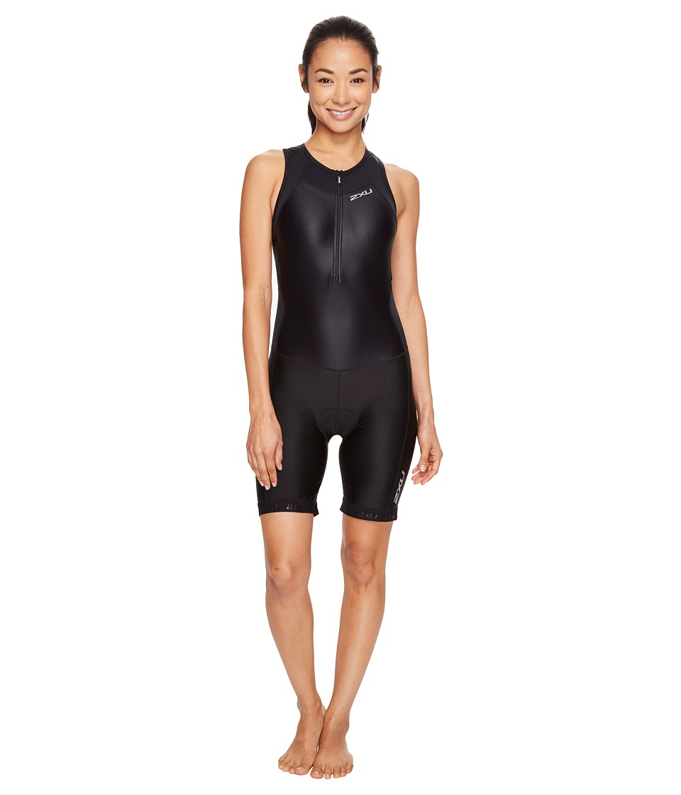 2XU - X-Vent Front Zip Trisuit (Black/Black) Women's Race Suits One Piece