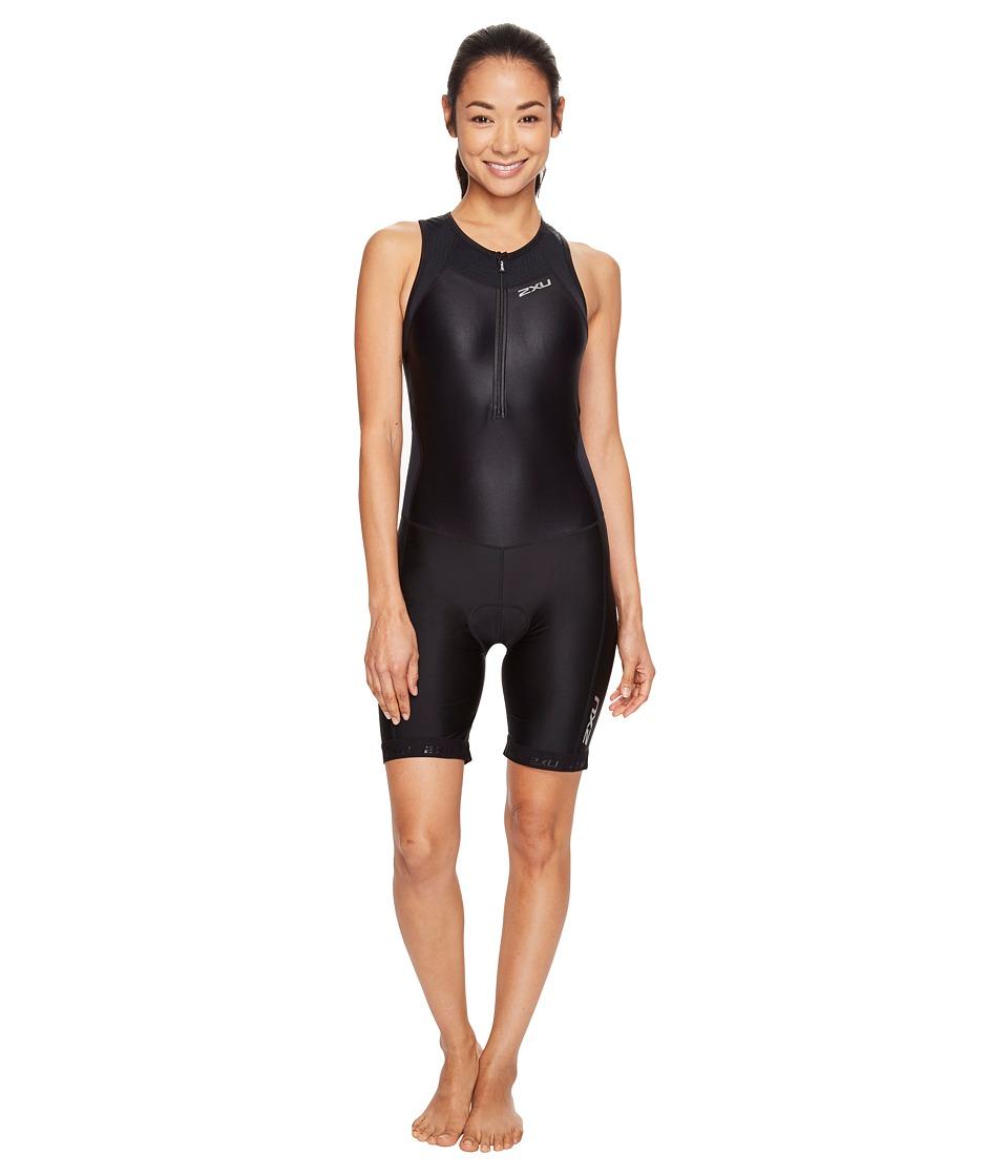 2XU - X-Vent Front Zip Trisuit (Black/Black) Women's Race Suits One Piece