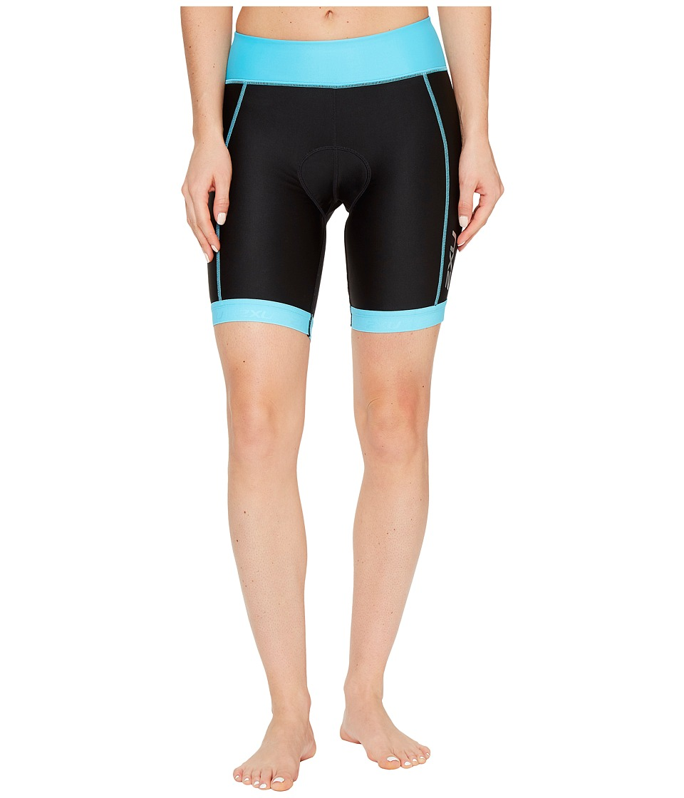 2XU - X-Vent 7 Tri Shorts (Black/Blue Atoll) Women's Shorts