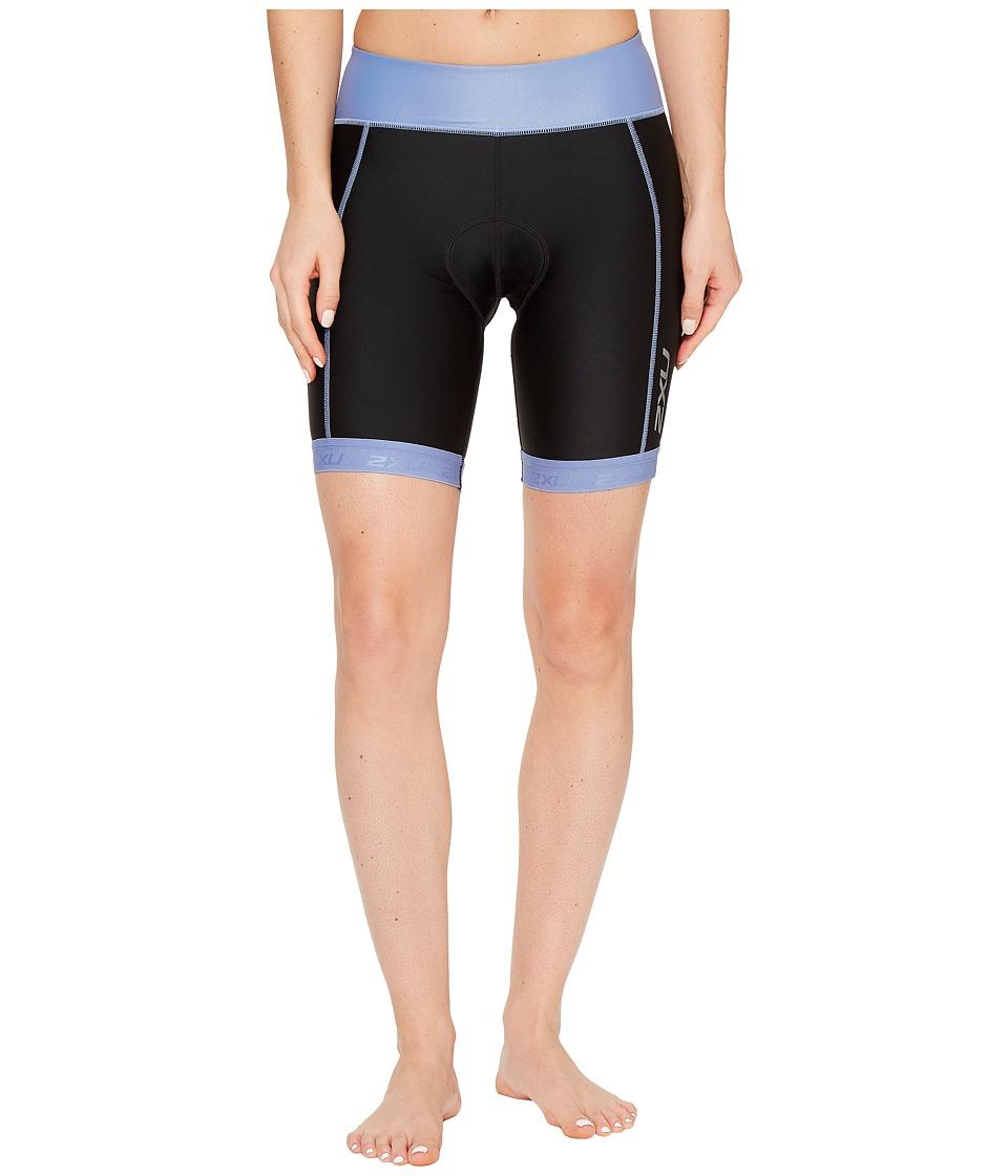 2XU - X-Vent 7 Tri Shorts (Black/Colony Blue) Women's Shorts