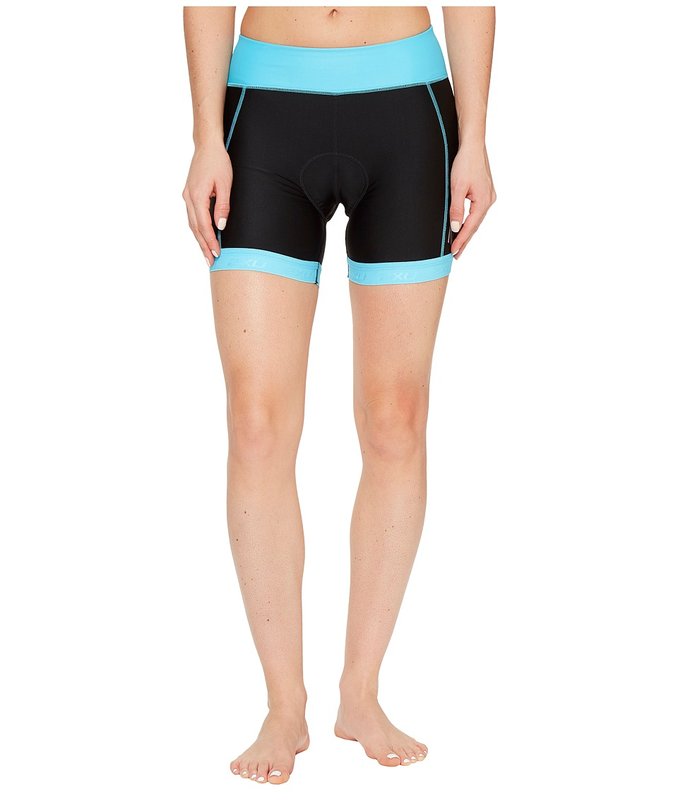 2XU - X-Vent 4.5 Tri Shorts (Black/Blue Atoll) Women's Shorts
