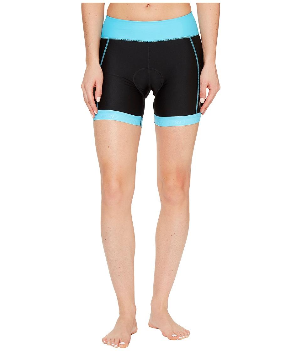 2XU - X-Vent 4.5 Tri Shorts (Black/Blue Atoll) Women's Shorts