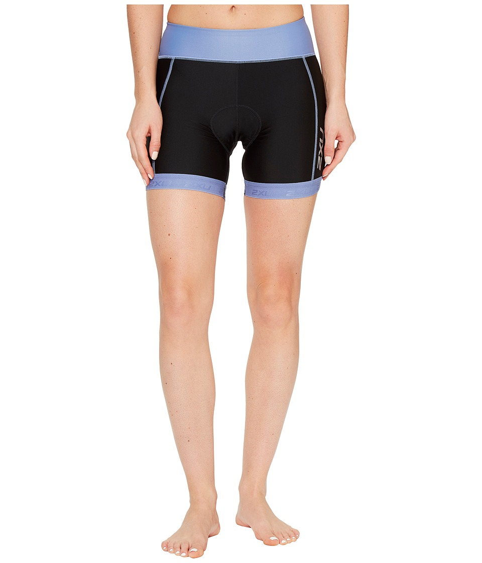 2XU - X-Vent 4.5 Tri Shorts (Black/Colony Blue) Women's Shorts