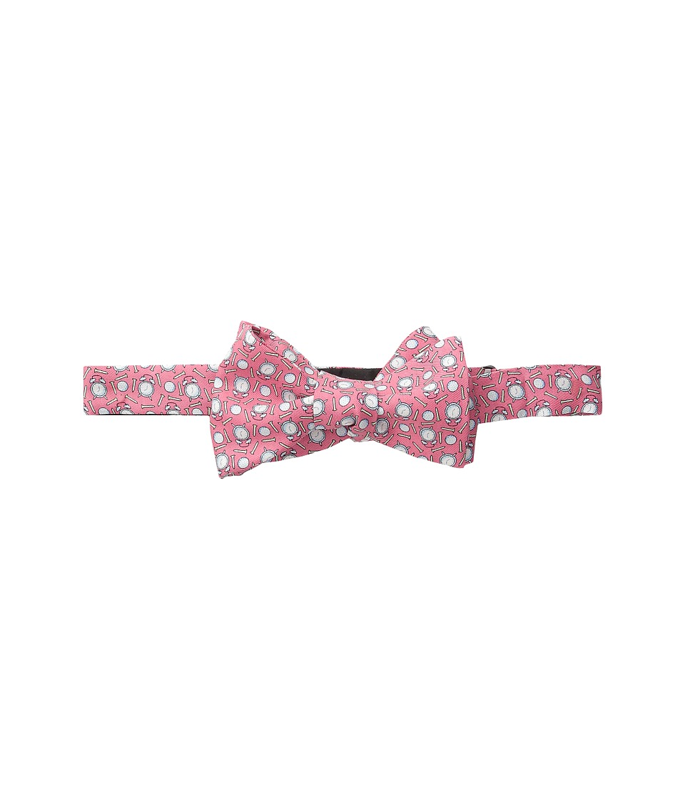 Vineyard Vines - Tee Time Printed Bow Tie (Raspberry) Ties