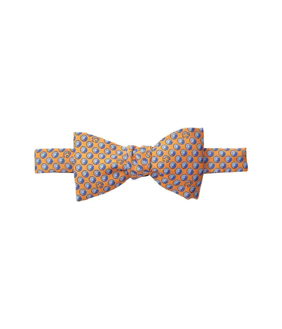 Vineyard Vines - Clay Pigeon Printed Bow Tie (Orange) Ties