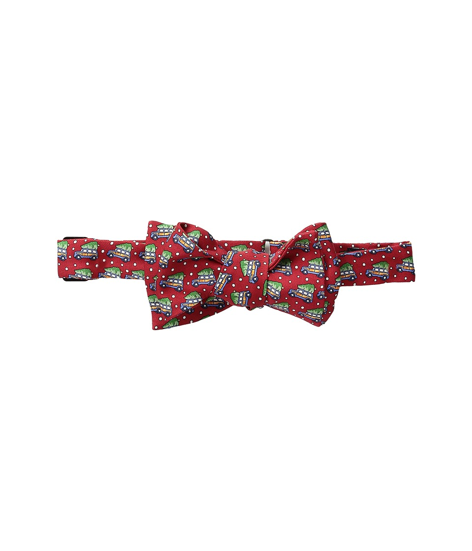 Vineyard Vines - Woody Tree Printed Bow Tie (Red) Ties