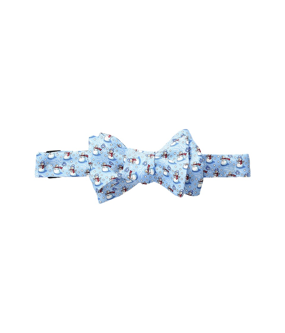 Vineyard Vines - Snowman Printed Bow Tie (Light Blue) Ties
