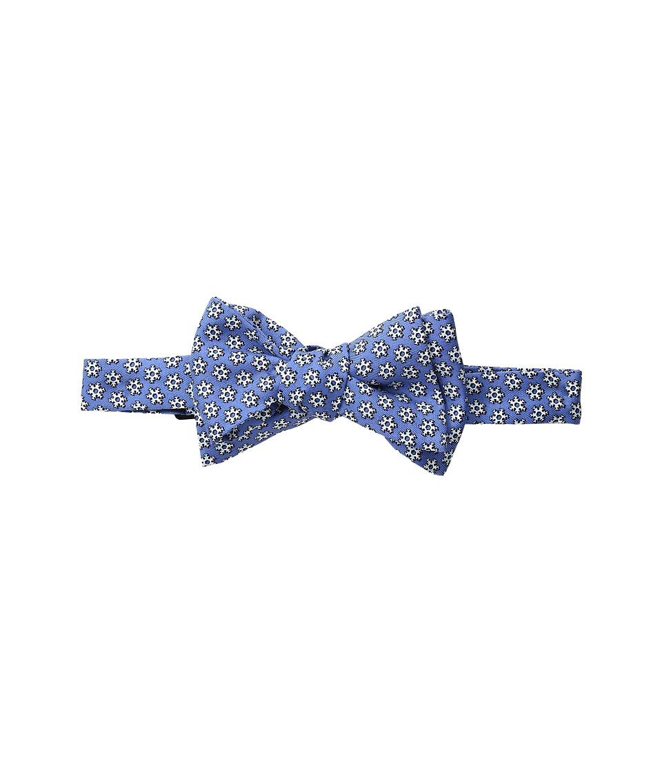 Vineyard Vines - Snowflake Geo Printed Bow Tie (Bimini Blue) Ties
