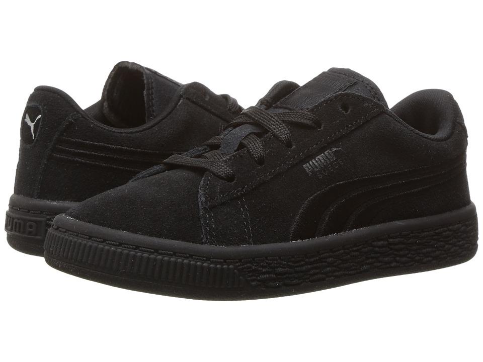 Puma Kids - Suede Classic Badge INF (Toddler) (PUMA Black) Kids Shoes
