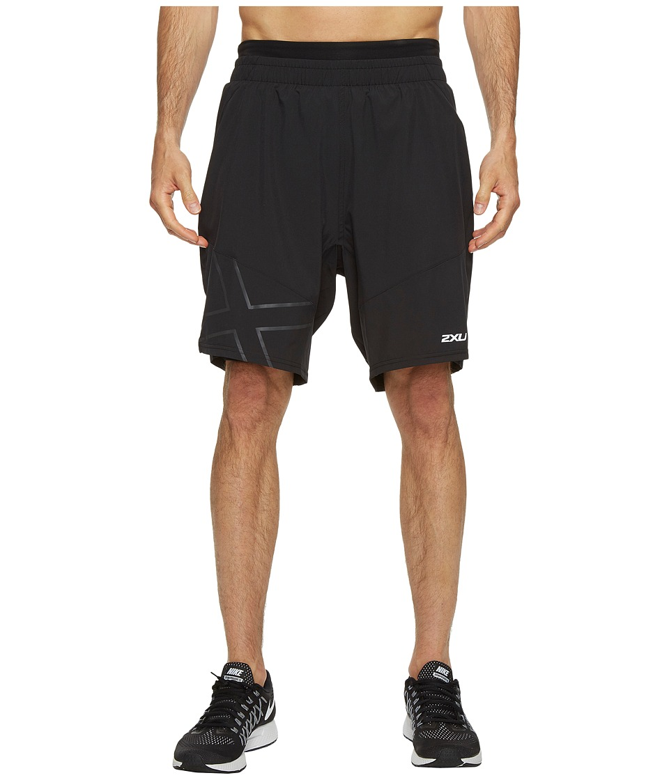 2XU - X-CTRL 9 Shorts w/ Compression (Black/Black) Men's Shorts