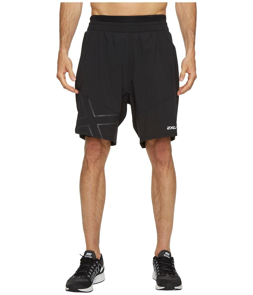 2XU - X-CTRL 9 Shorts w/ Compression (Black/Black) Men's Shorts