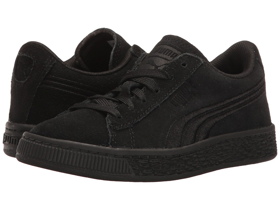 Puma Kids - Suede Classic Badge PS (Little Kid/Big Kid) (Puma Black/Puma Black) Kids Shoes