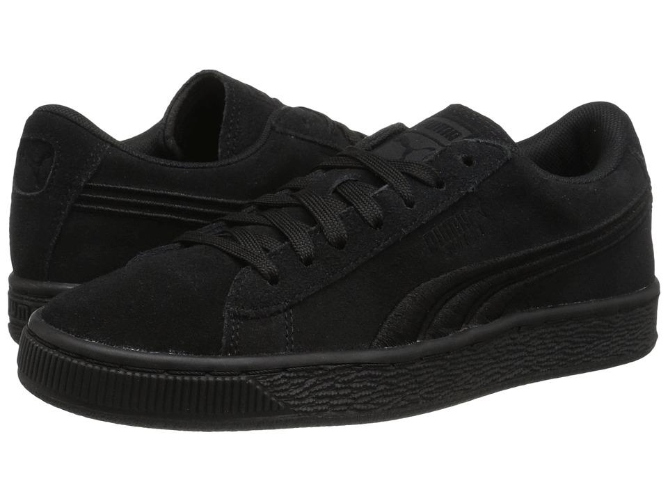Puma Kids - Suede Classic Badge Jr (Big Kid) (Puma Black/Puma Black) Kids Shoes