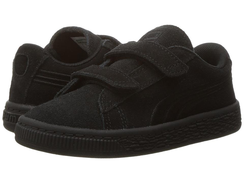 Puma Kids - Suede Classic Badge V INF (Toddler) (Puma Black/Puma Black) Kids Shoes