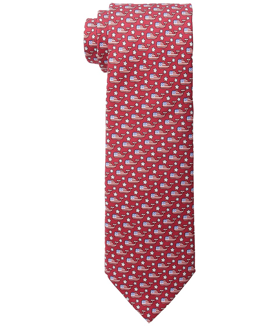 Vineyard Vines - Stars Whales Printed Tie (Red) Ties