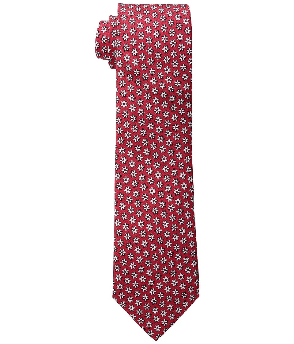 Vineyard Vines - Snowflake Geo Printed Tie (Red) Ties