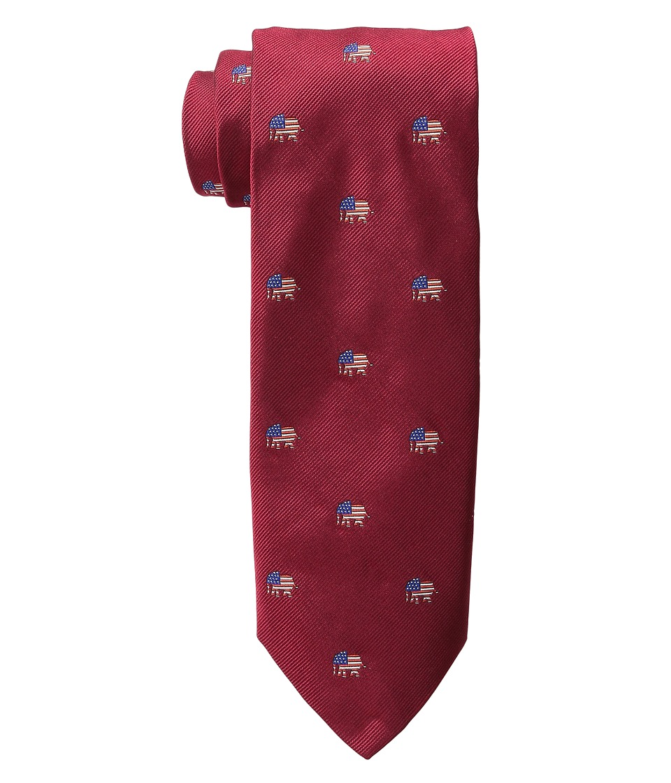 Vineyard Vines - Elephants Woven Tie (Red) Ties