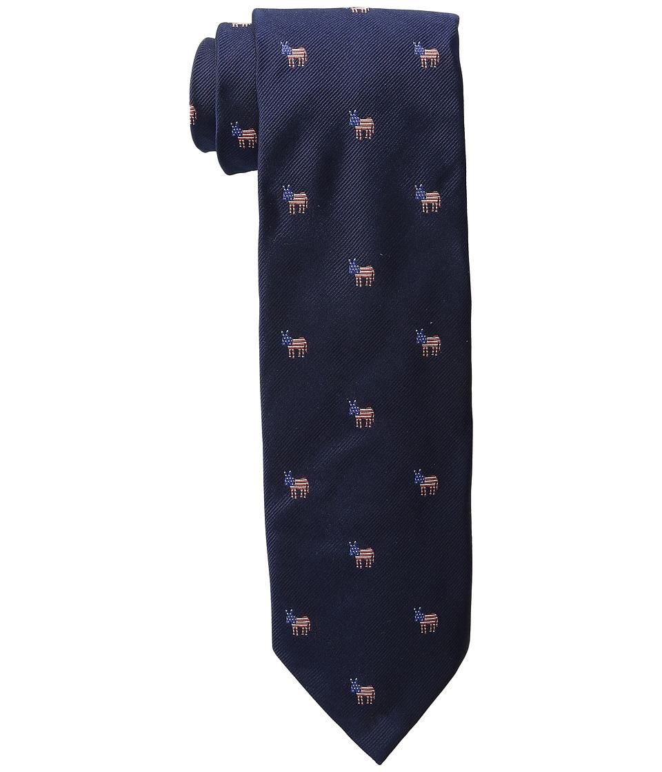 Vineyard Vines - Donkeys Woven Tie (Vineyard Navy) Ties