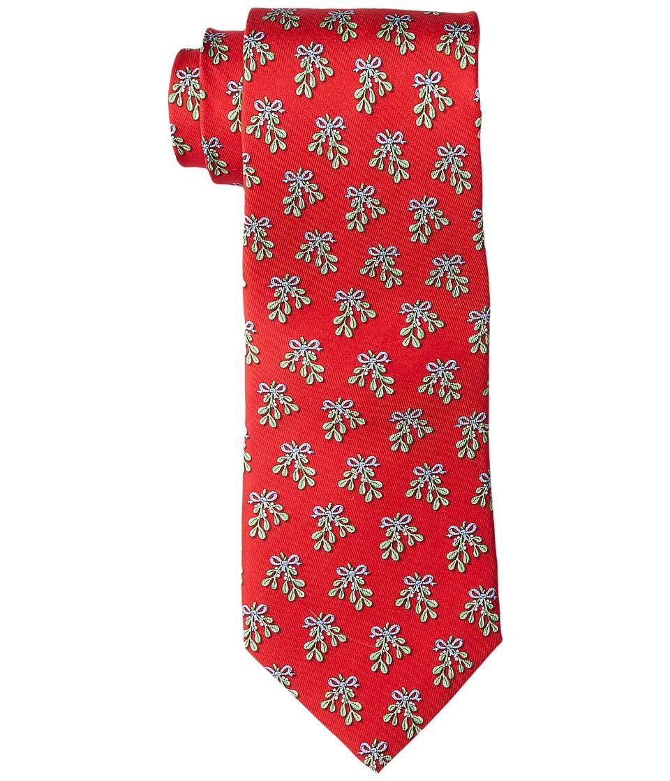 Vineyard Vines - Mistletoe Printed Tie (Red) Ties