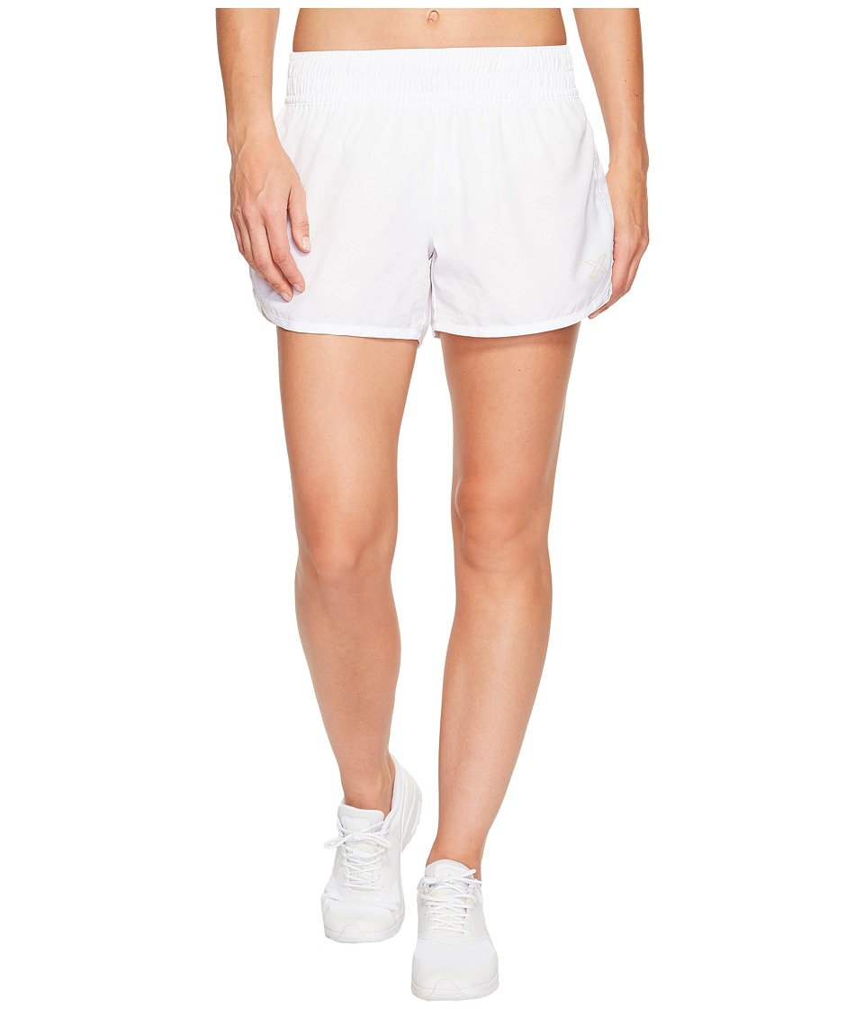 2XU - X-Vent 4 Shorts w/ Brief (White Prism Emboss/White) Women's Shorts