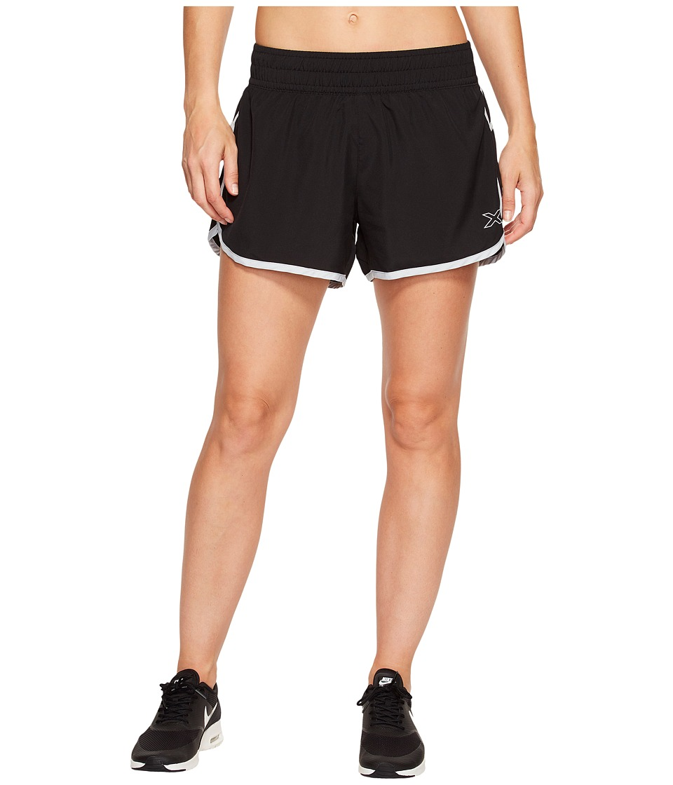 2XU - X-Vent 4 Shorts w/ Brief (Black/Pearl Blue) Women's Shorts