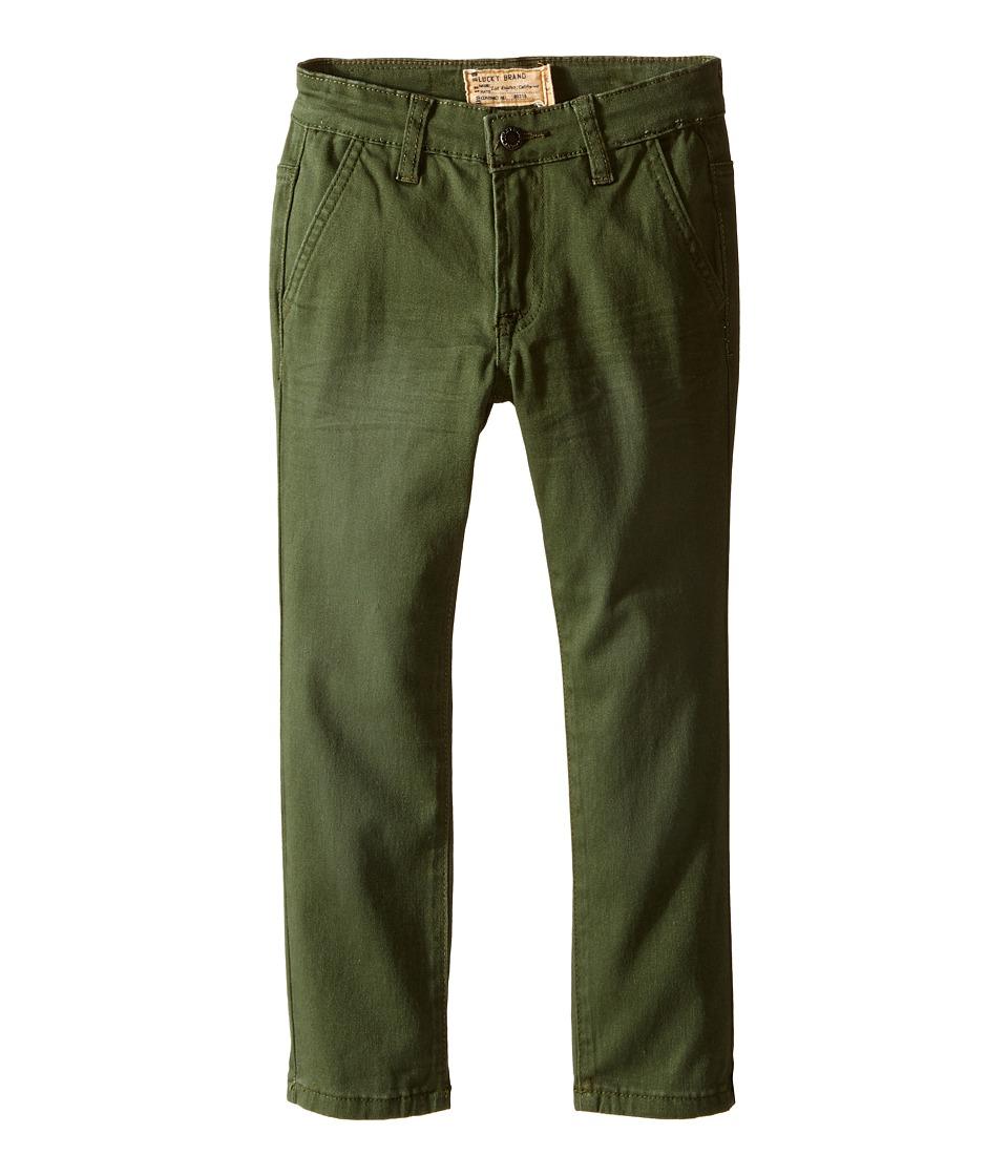 Lucky Brand Kids - Slim Fit Twill Pants w/ Slash Front Pockets (Little Kids/Big Kids) (Four Leaf) Boy's Casual Pants