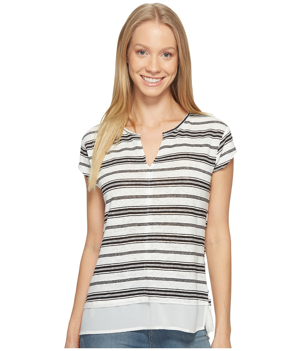 Sanctuary - City Remix Tee (Milk/Black Stripe) Women's T Shirt