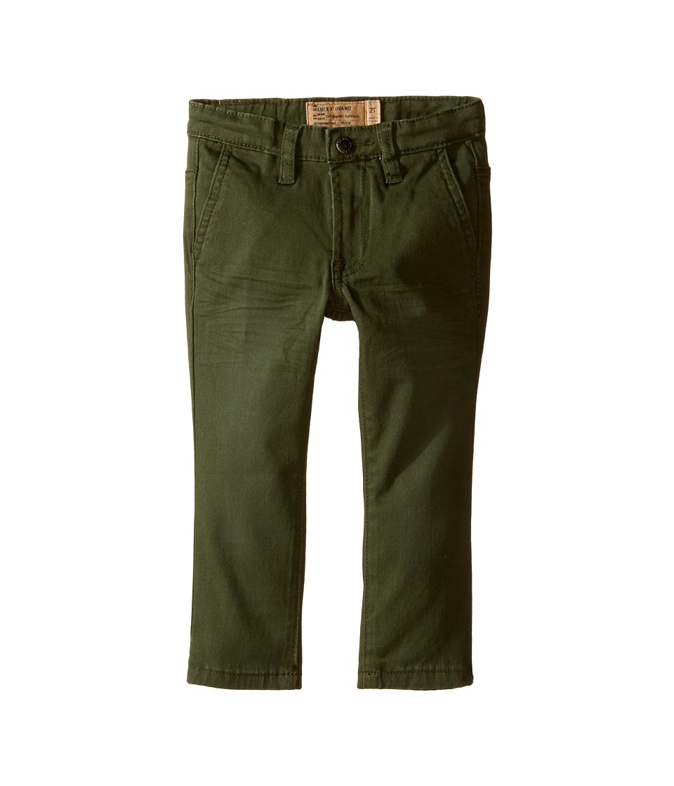 Lucky Brand Kids - Slim Fit Twill Pants w/ Slash Front Pockets (Toddler) (Four Leaf) Boy's Casual Pants