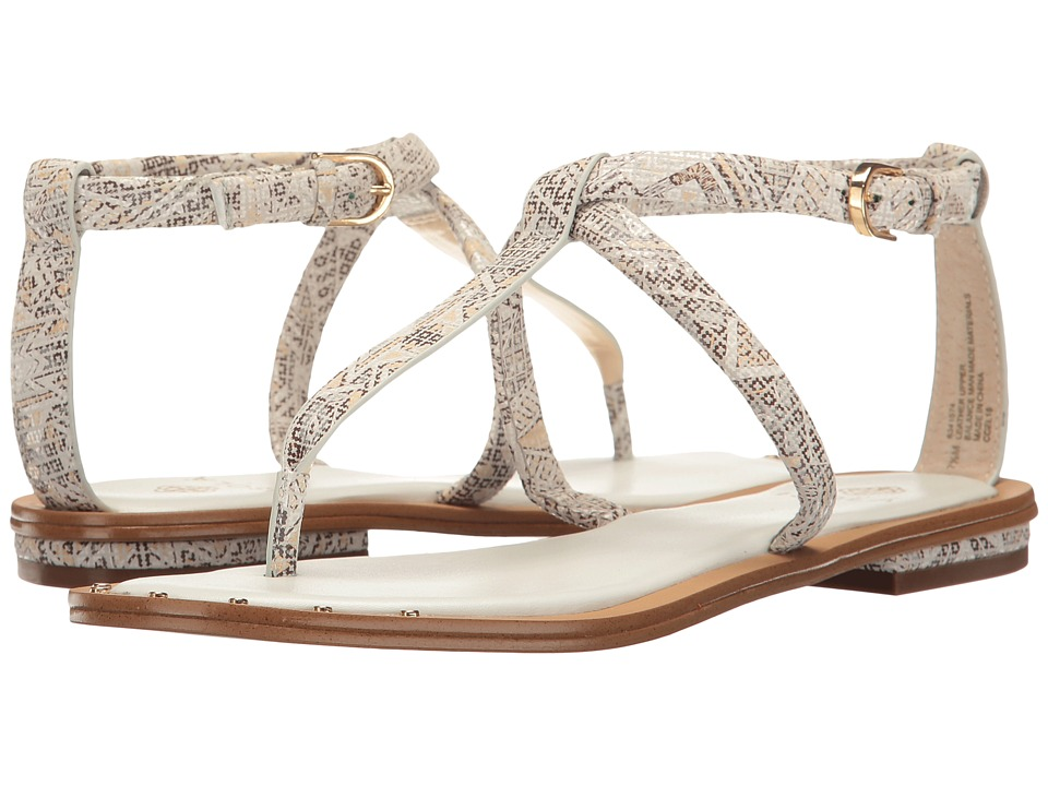 Isola - Mackenzie (White/Tan Tribal Print) Women's Flat Shoes