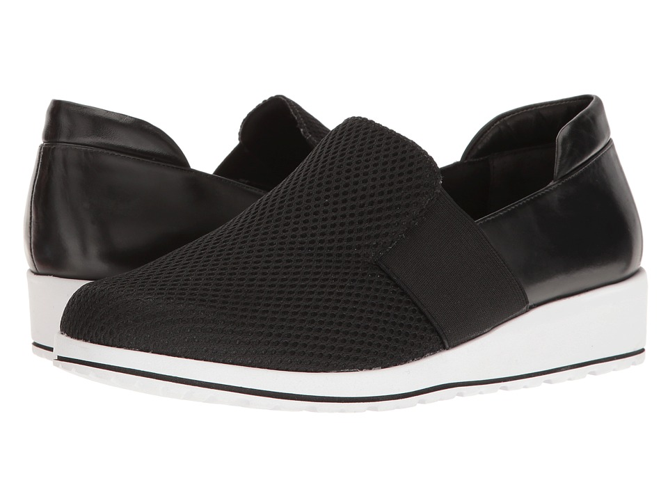 Walking Cradles - Fraley (Black Cashmere/Mesh) Women's Slip on Shoes