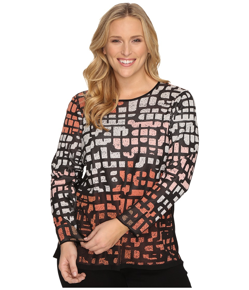 NIC+ZOE - Plus Size Pattern Play Top (Soft Copper) Women's Clothing