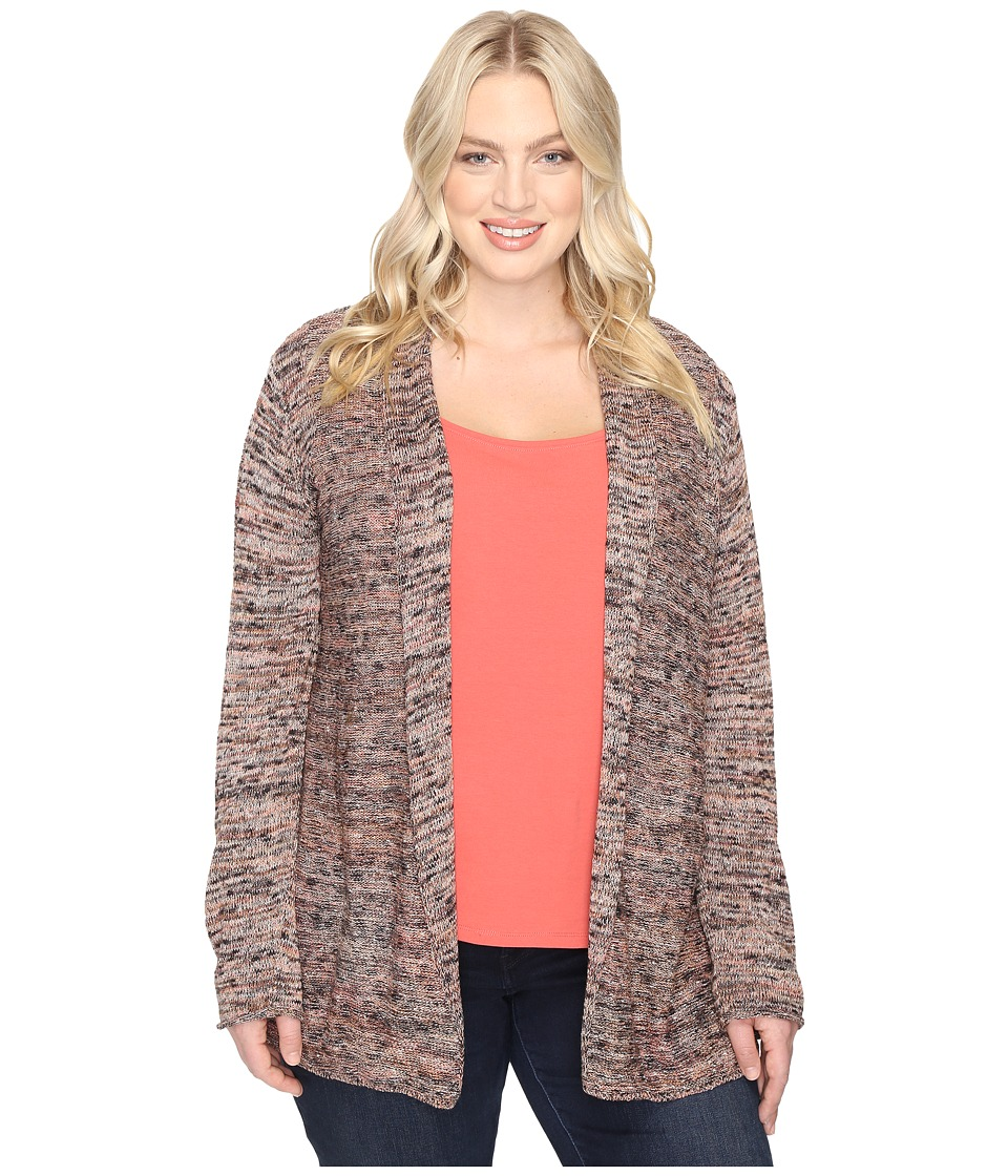 NIC+ZOE - Plus Size Tea Rose Cardy (Multi) Women's Sweater