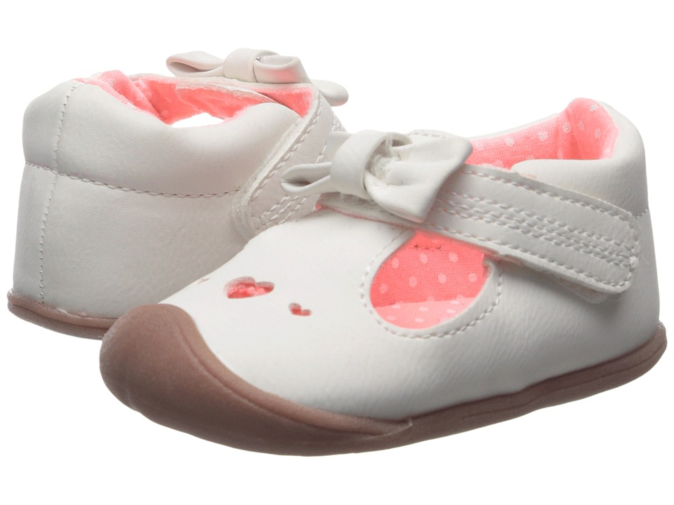 Carters - Every Step - Amy-P4 (Infant) (White/Pink) Girl's Shoes