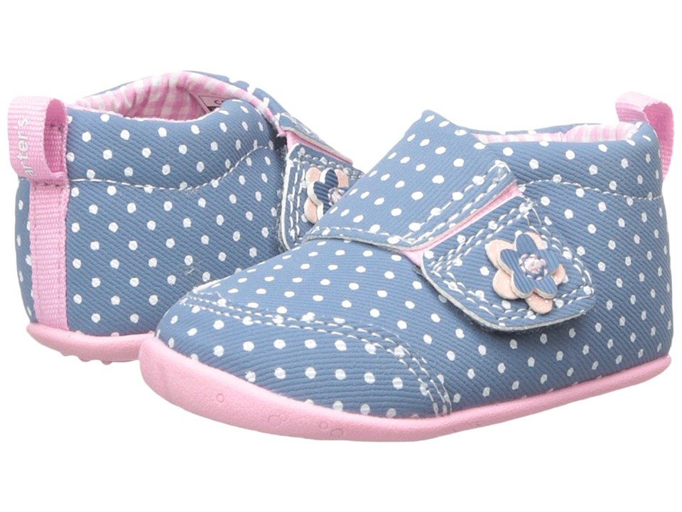 Carters - Every Step - Christy-P4 (Infant/Toddler) (Blue/Light Pink) Girl's Shoes
