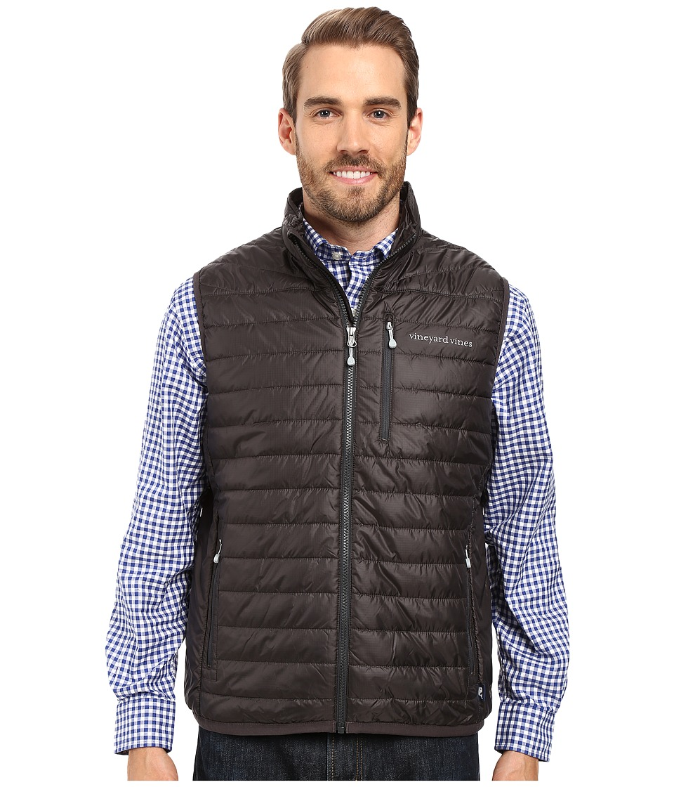 Vineyard Vines Mountain Weekend Vest (Squall Gray) Men