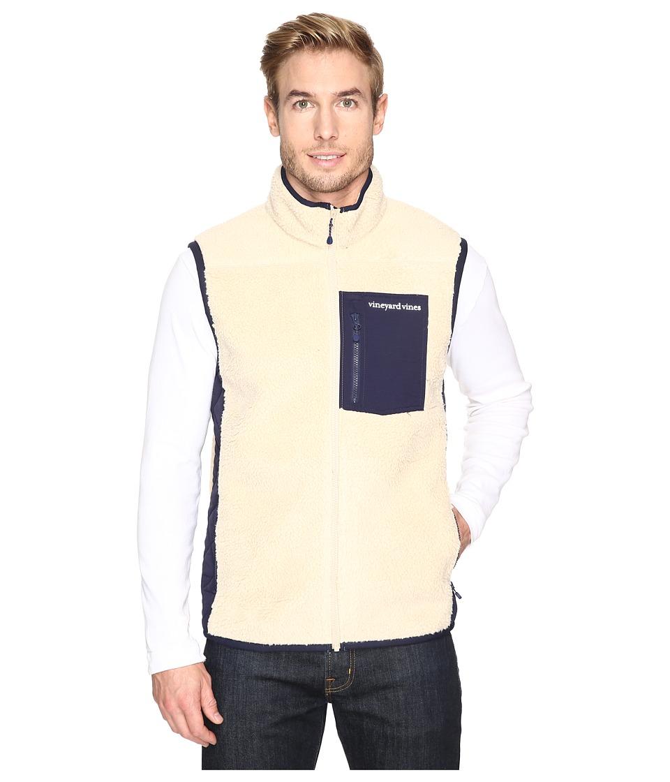Vineyard Vines - Sherpa Full Zip Vest (Camel) Men's Vest