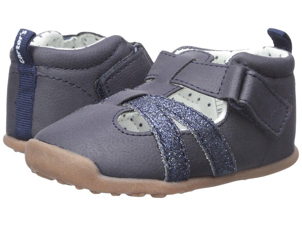 Carters - Clio-P4 (Toddler) (Navy) Girl's Shoes