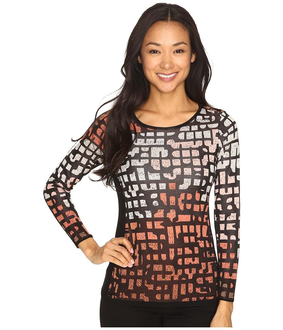 NIC+ZOE - Petite Pattern Play Top (Soft Copper) Women's Clothing